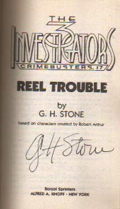 Gayle Lynds/G.H. Stone autograph